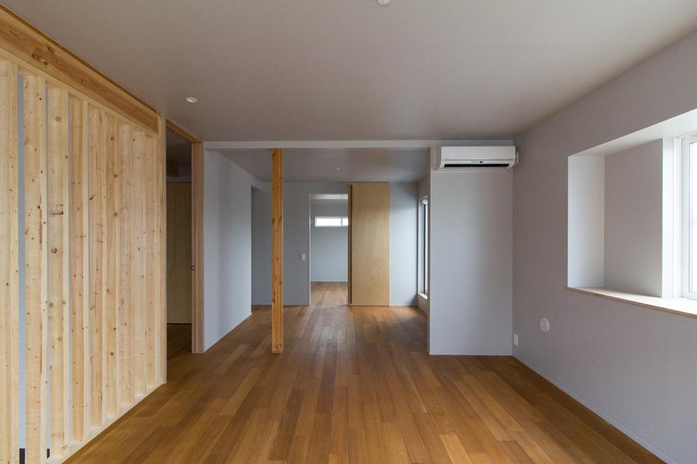 2階のフリースペース 将来間仕切って子供部屋にする事も可能